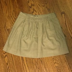 Grey ruched cloth skirt